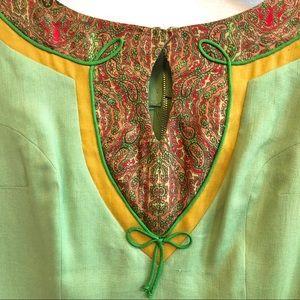 Oleg Cassini Dresses - Oleg Cassini Vintage Fitted Linen Shift Dress S